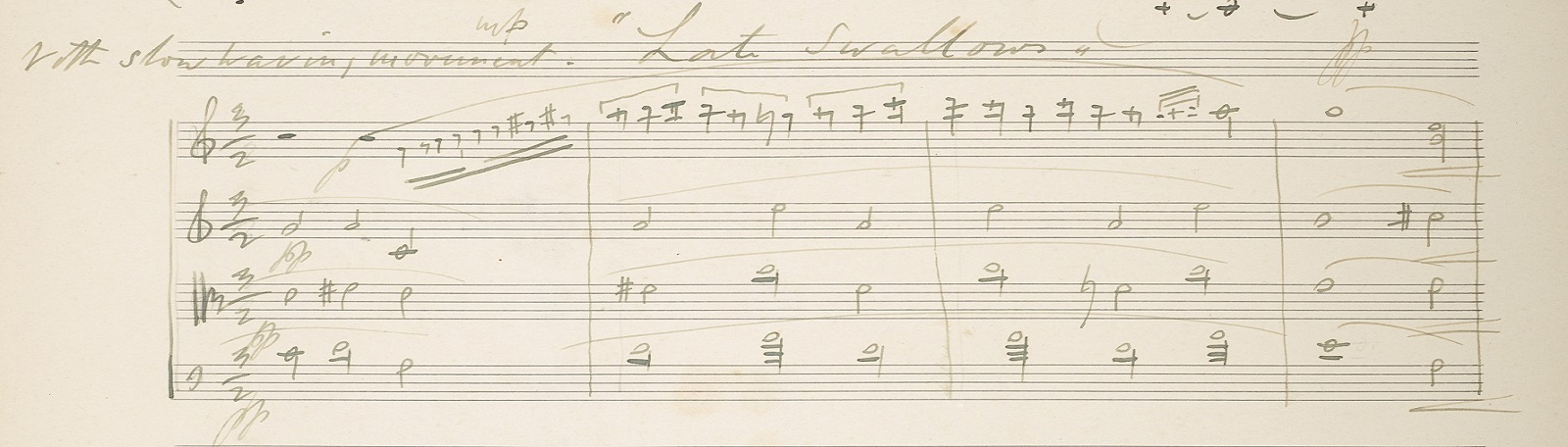 Frederick Delius, 'Late Swallows', f. 146v